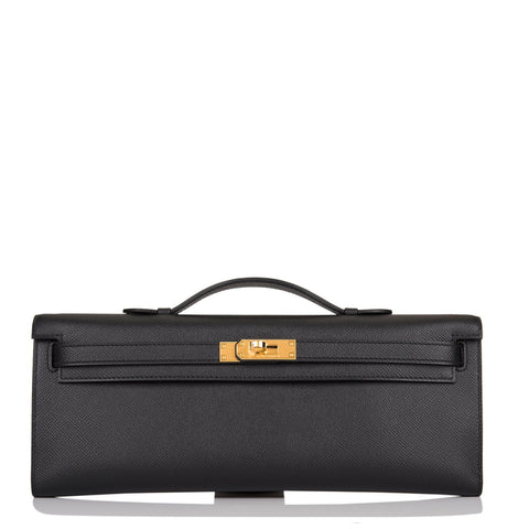 Hermes HSS Black Epsom Kelly Cut Gold Hardware