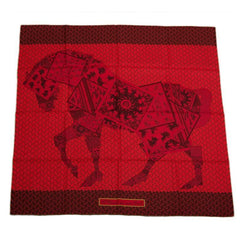 "Hermes ""A Cheval Sur Mon Carre"" Silk Twill Scarf 90cm"