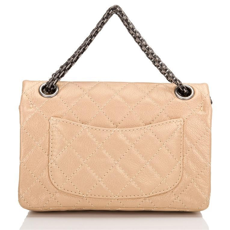 Chanel Gold Aged Calfskin Reissue 2.55 Lucky Charms 224 Flap Bag