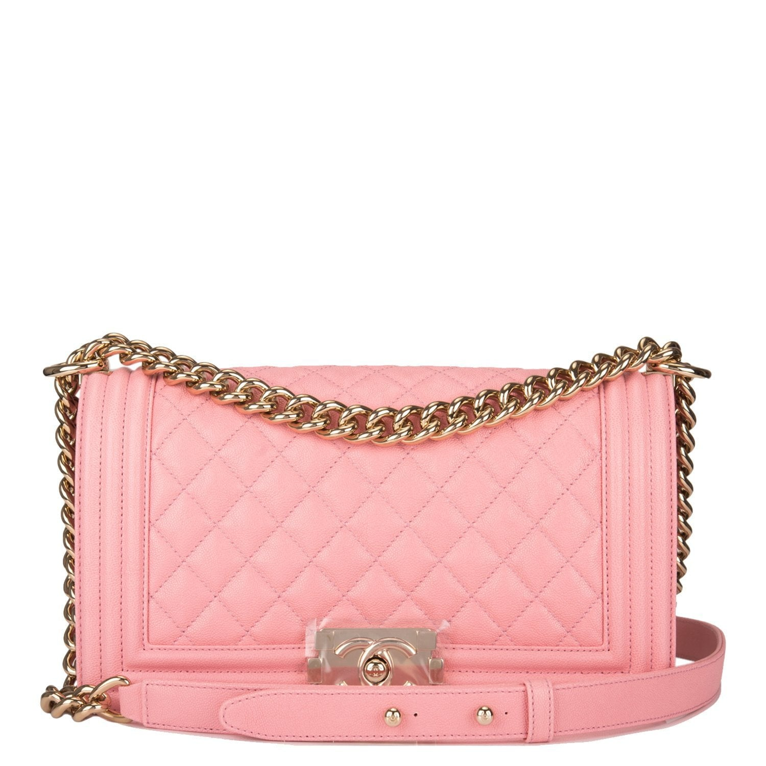 f55ccfe04fd0f0 Chanel Pink Quilted Caviar Medium Boy Bag – Madison Avenue Couture