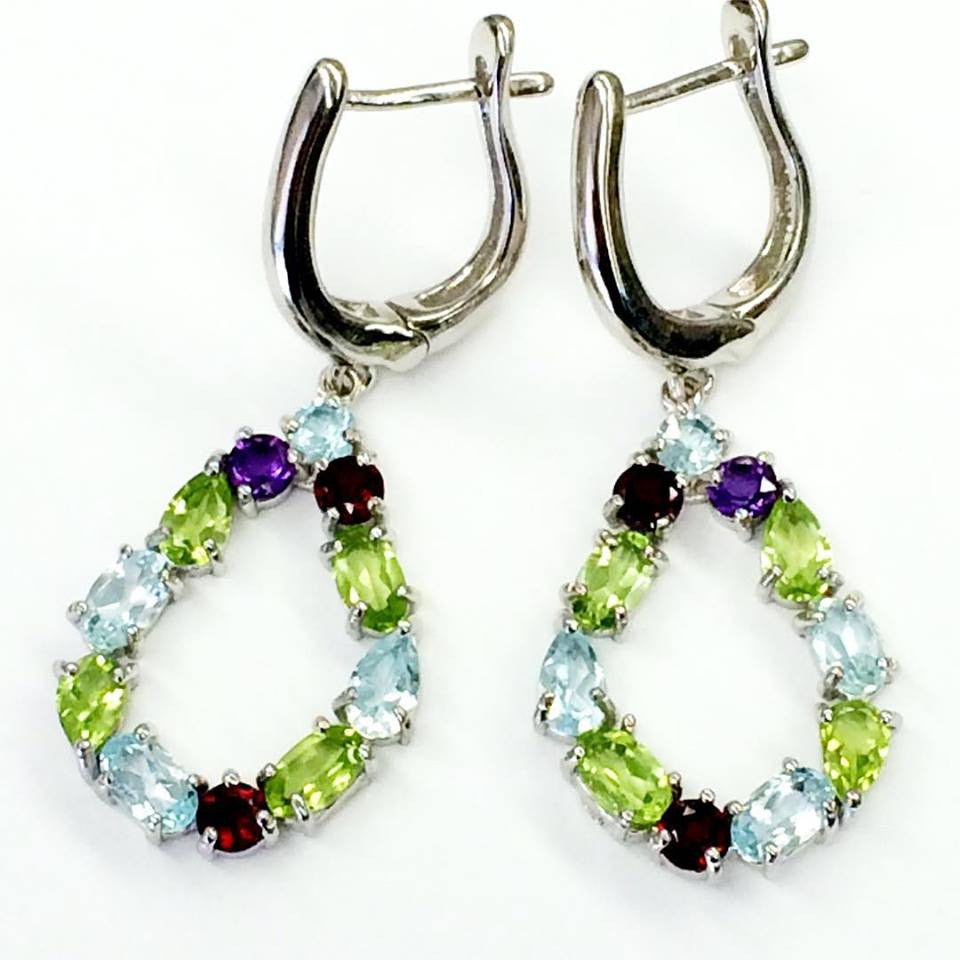 Colorful Teardrop Earrings  SKU 033