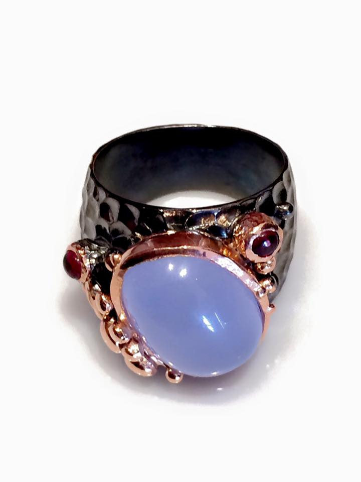 Blue Chalcedony Ring SKU 577