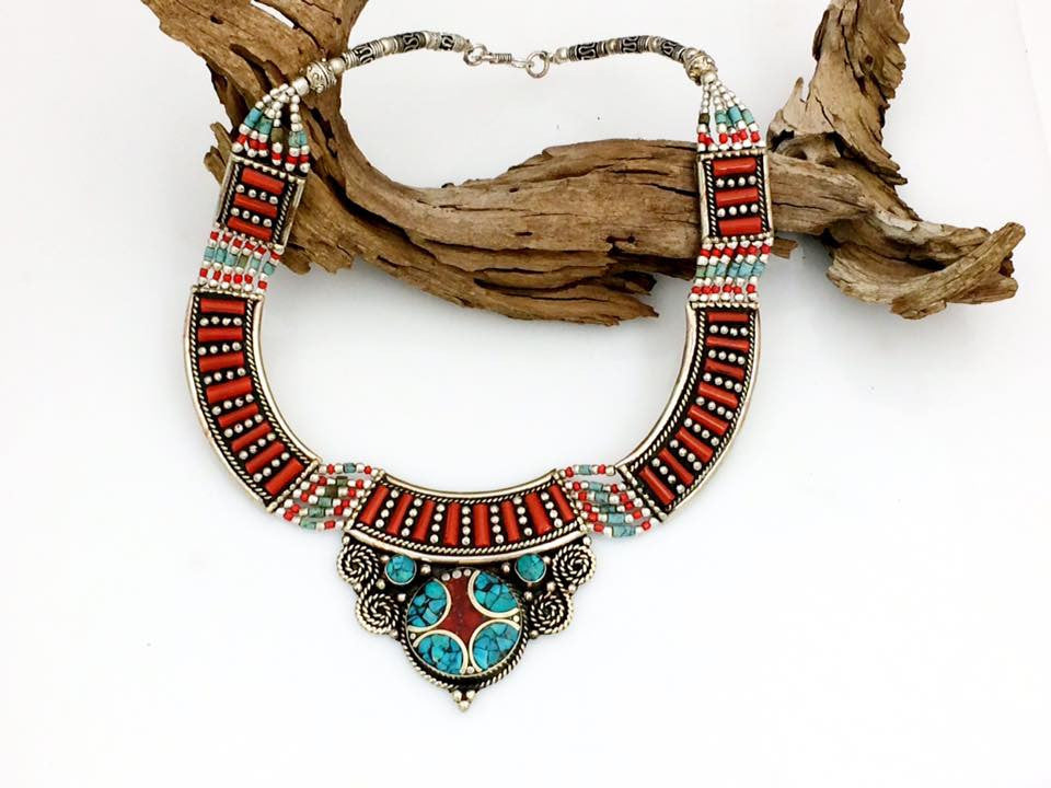 Coral Inlay Collar SKU 586