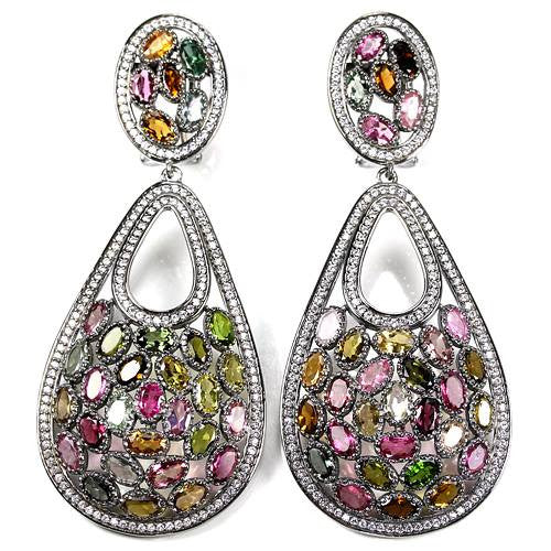 Large Tourmaline Earrings SKU 597