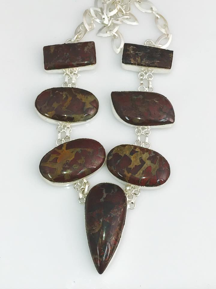 Exotic Jasper Necklace SKU 623