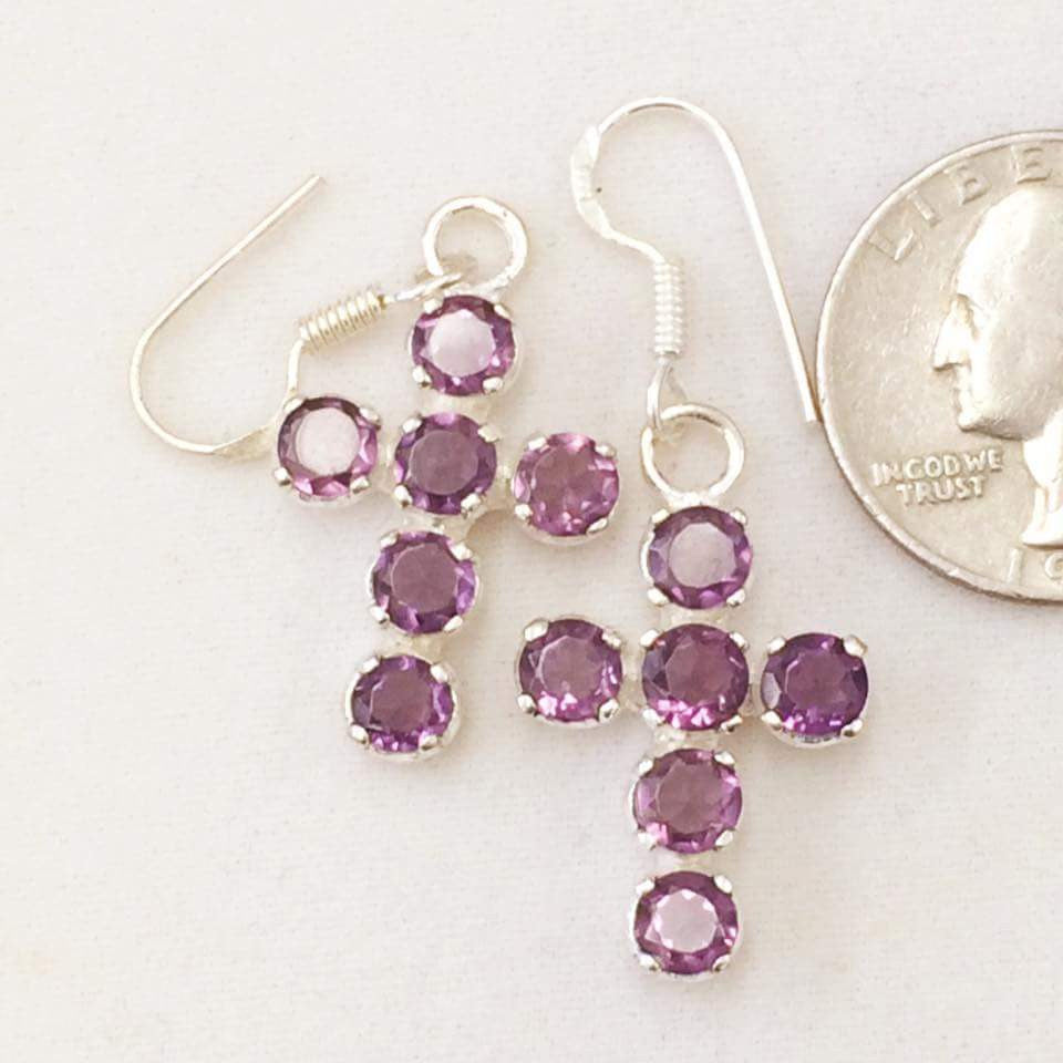 Purple Cross Earrings  SKU 117