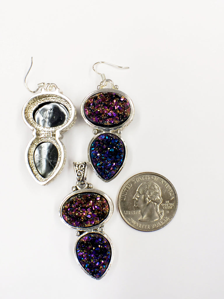 Purple Druzy Set  SKU 118