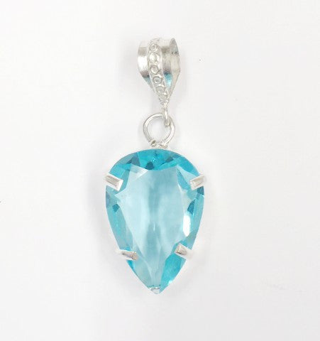 Small Blue Topaz Pendant  SKU 140