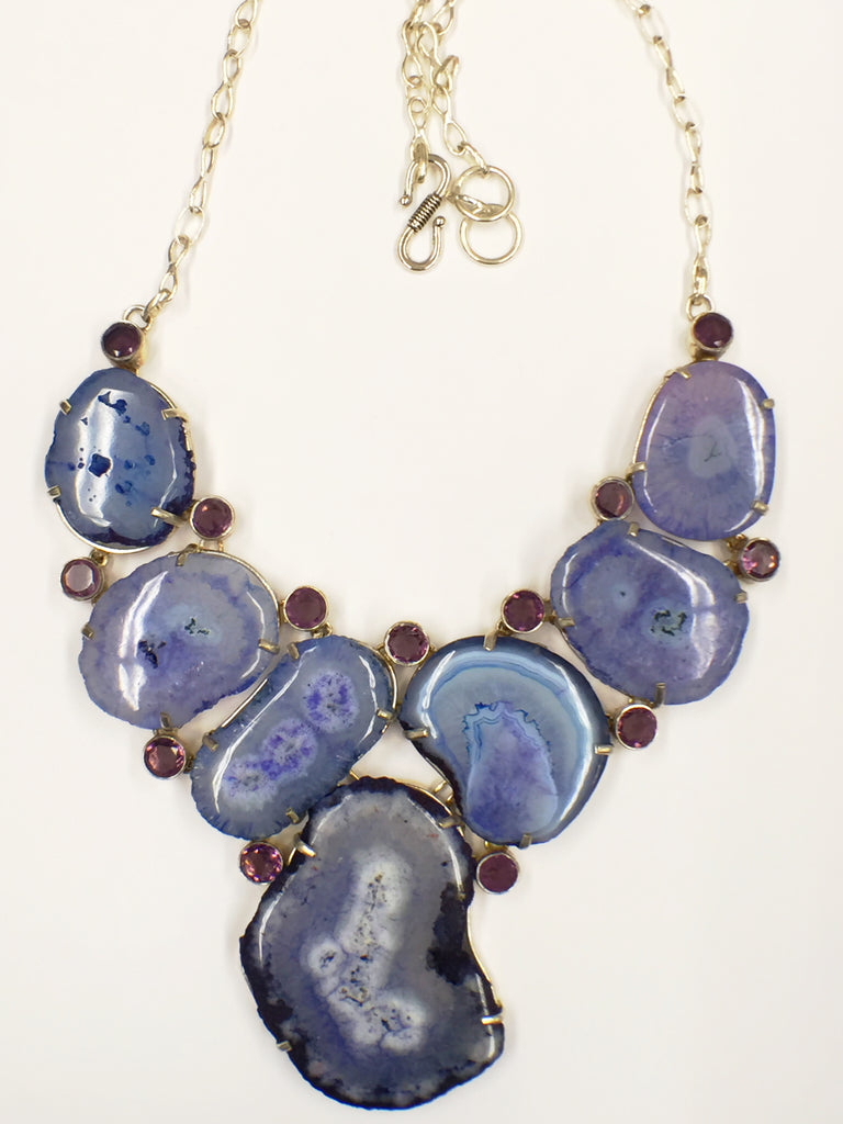 Polished Geode Necklace  SKU 116