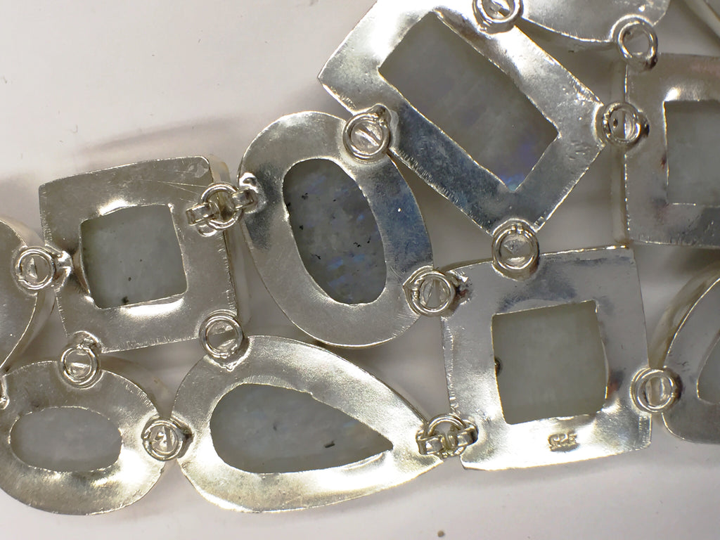 """Magnificent"" Moonstone Collar Necklace           SKU 004"