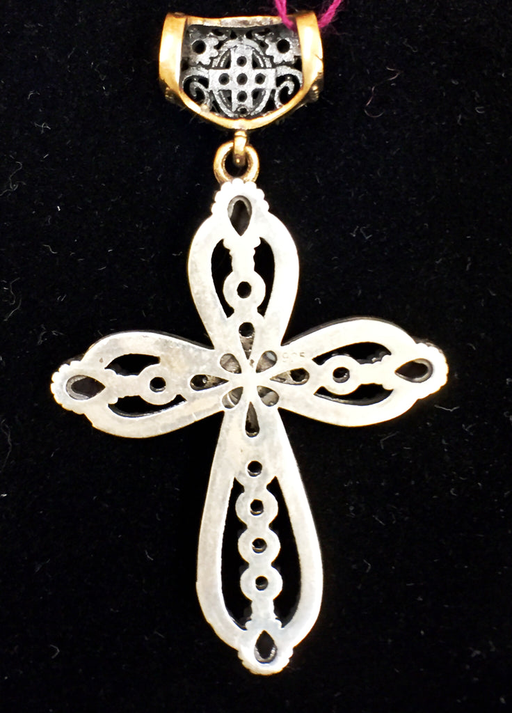 Ruby Cross Pendant  SKU 128
