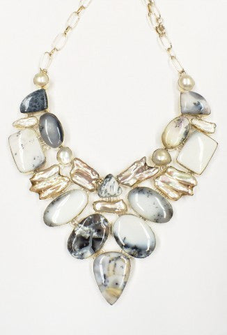 Dendritic Opal Collar Necklace  SKU 039