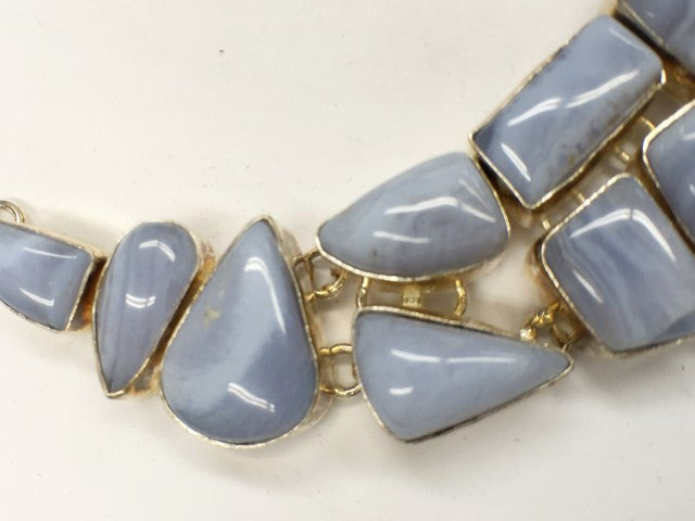 Blue Lace Agate Necklace   SKU 023