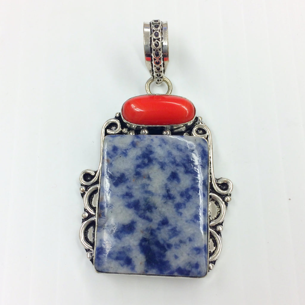 Denim Lapis pendant  SKU 040