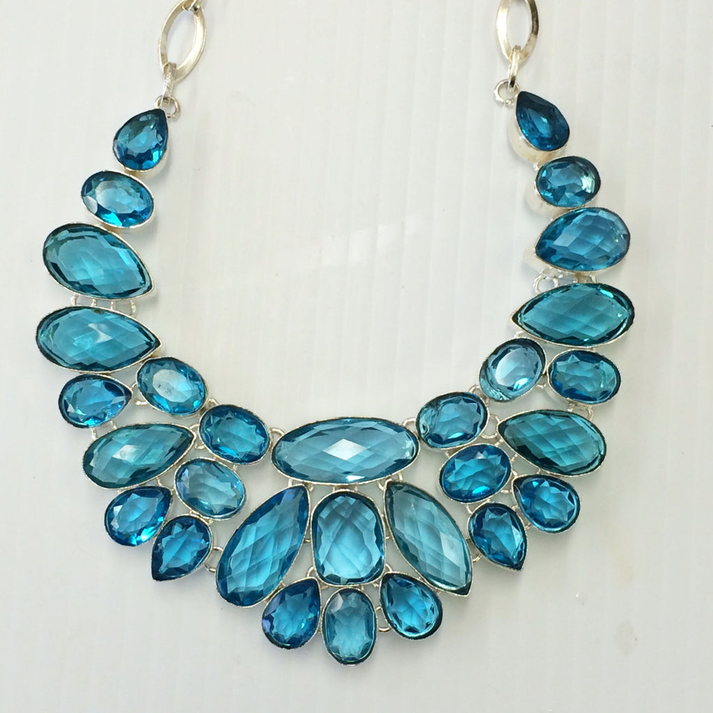 Blue Topaz Necklace                  SKU 026