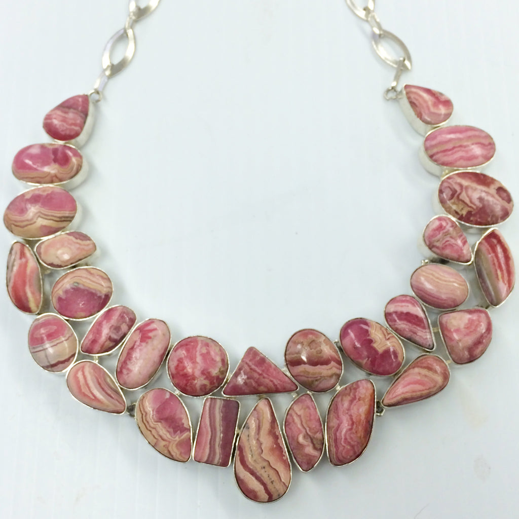 Rhodochrosite Necklace  SKU 125