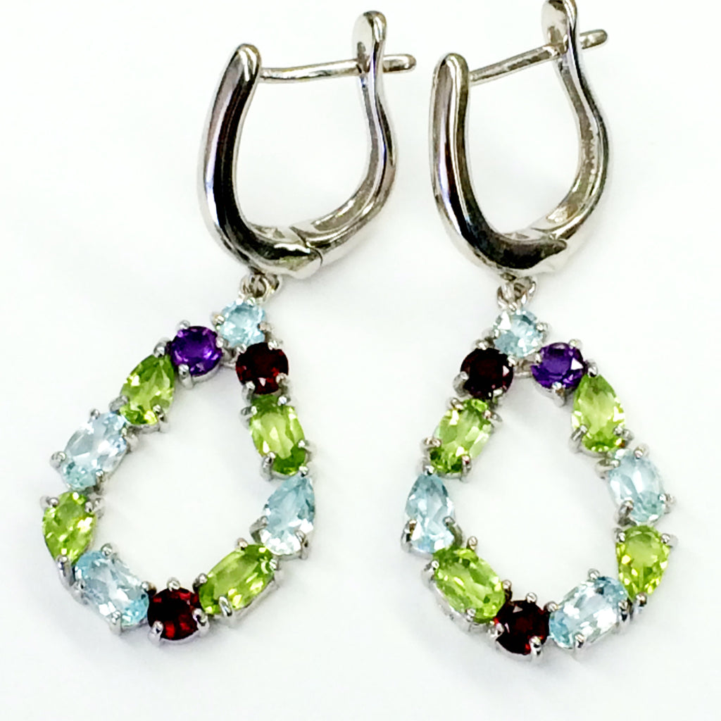 Multi stone earrings  SKU 089