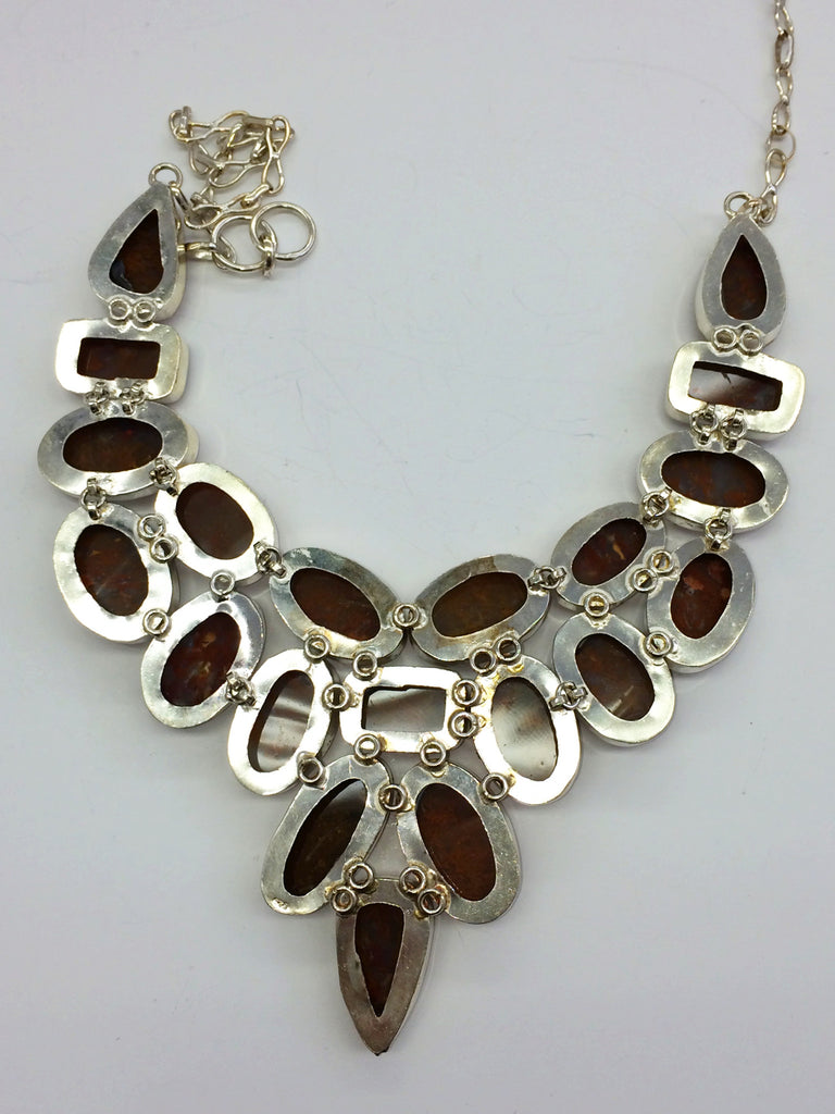 Agate Large Collar Necklace      SKU 167