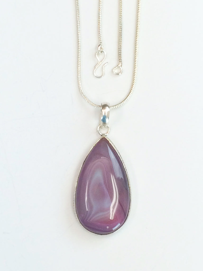 Shades of Mauve Agate Necklace           SKU 192
