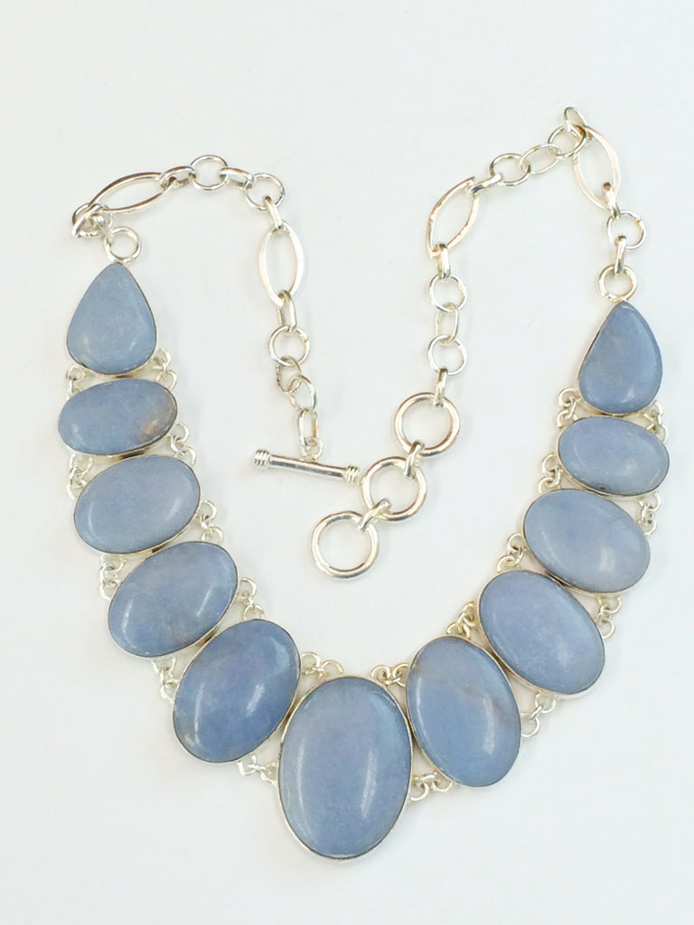 Lavender Jade Necklace   SKU 213