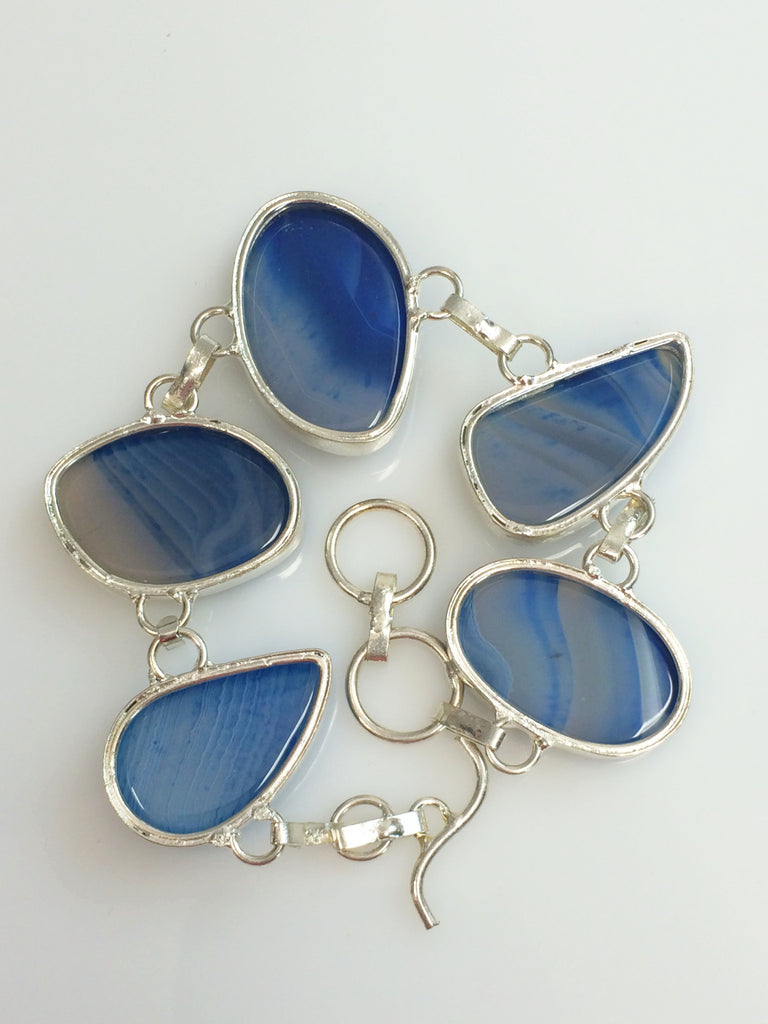Royal BLue Agate Bracelet    SKU 272