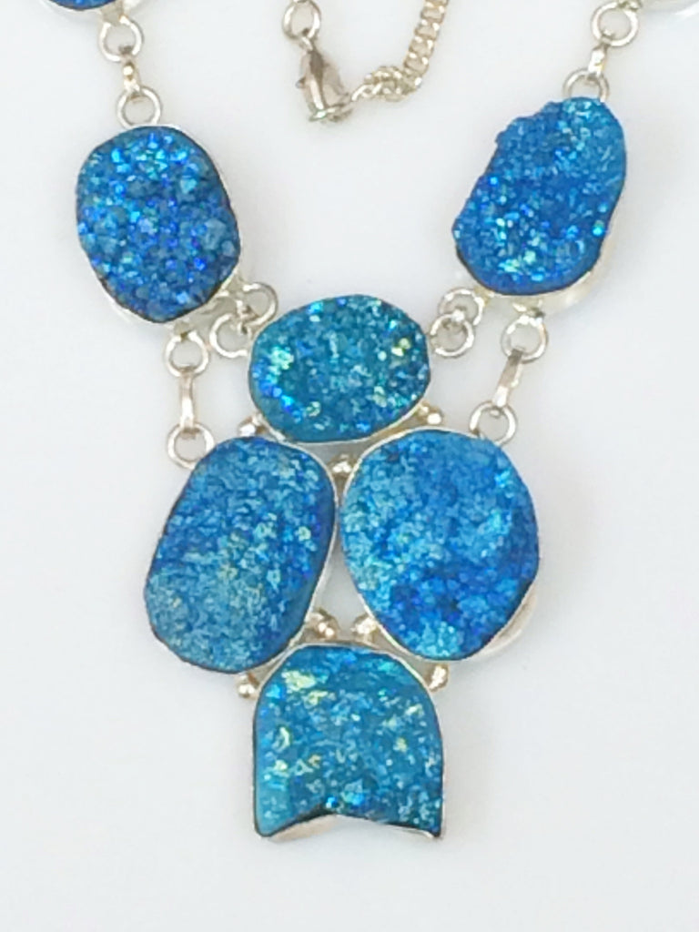 Brilliant Turquoise Druzy necklace   SKU 331