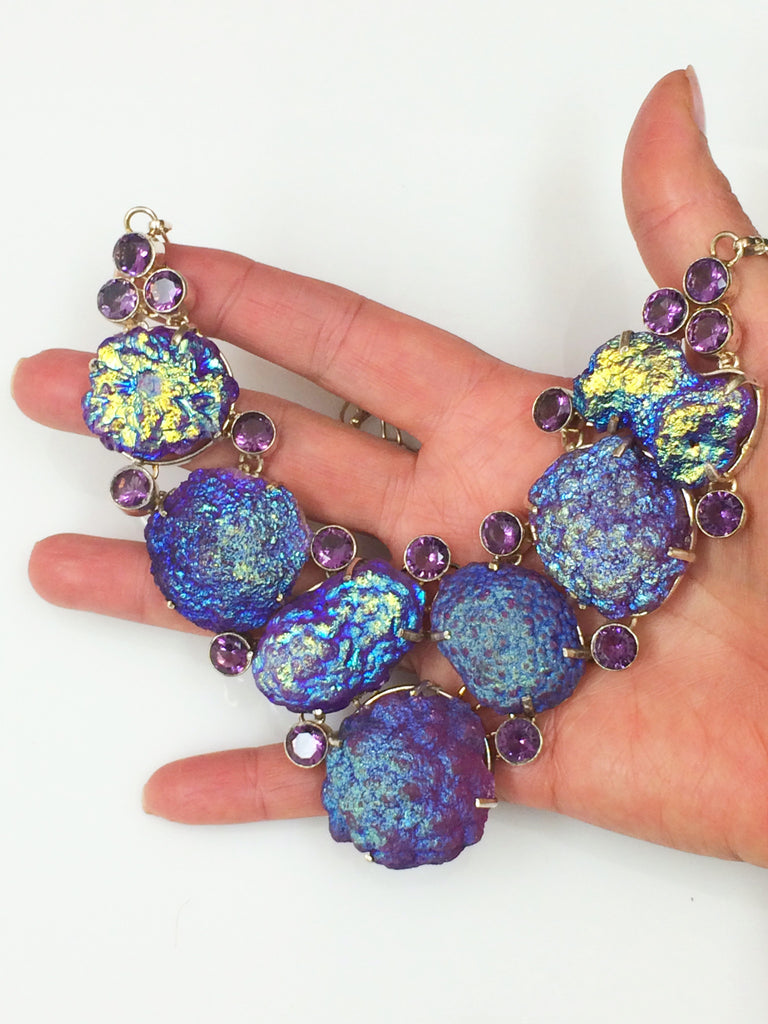 Purple Pop Druzy Necklace SKU 336