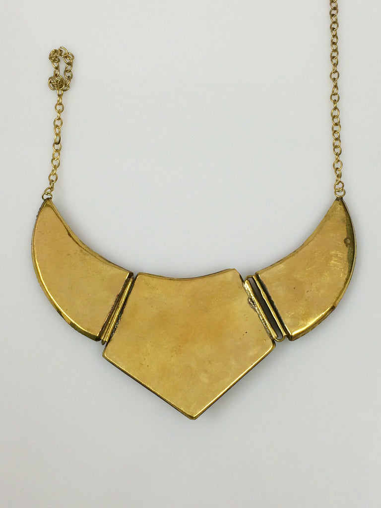 Scalloped Brass Collar Necklace SKU 378