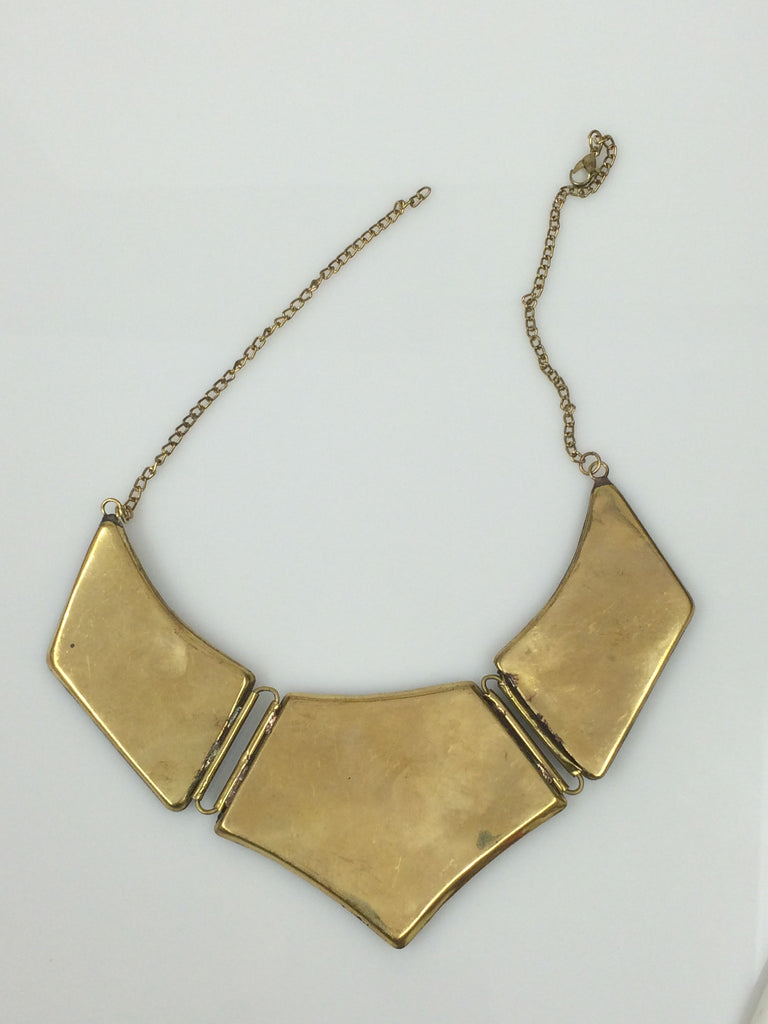 Floral Brass Collar Necklace SKU 379