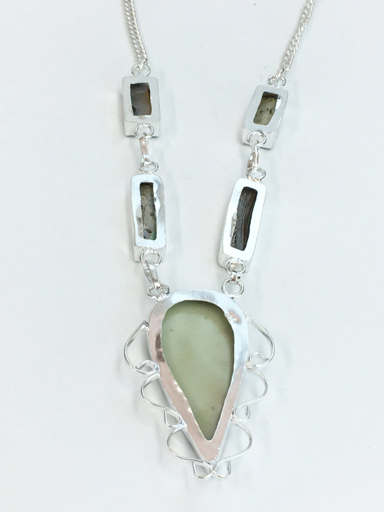 Natural Abalone Shell Necklace                 SKU 307