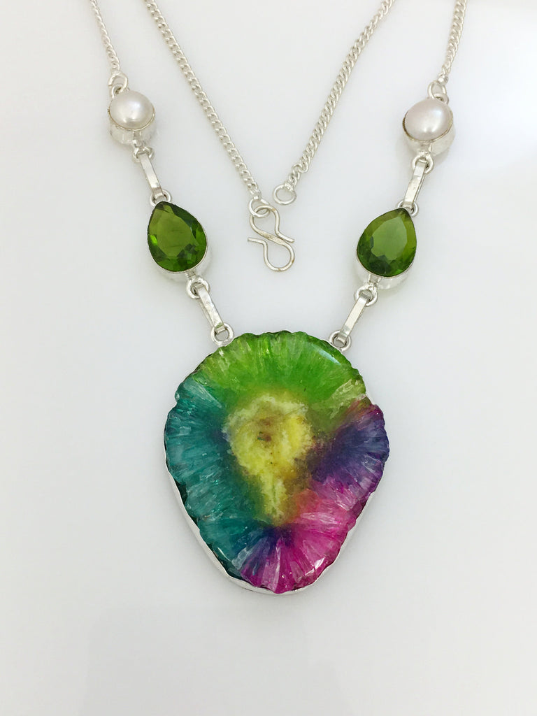 Fiesta Single Agate Necklace SKU 442