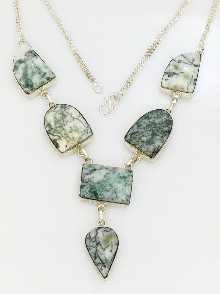 Moss Agate Necklace SKU 415