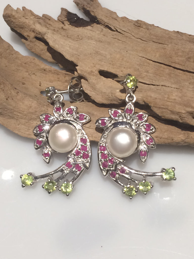 Pearl Swirl Earrings SKU 532