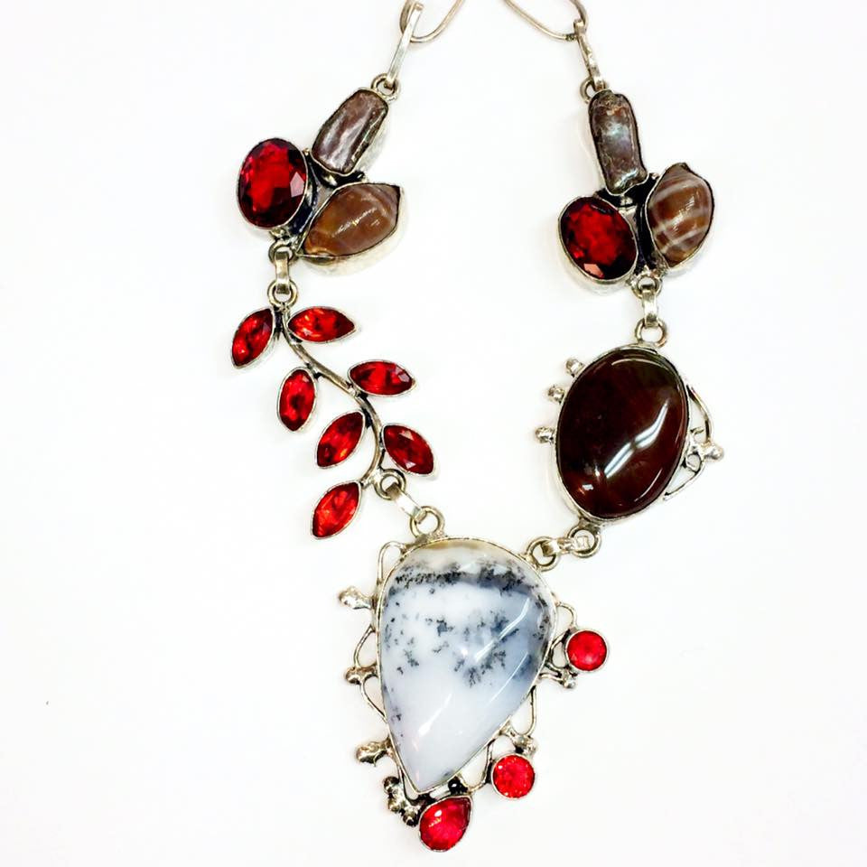 Dentritic agate necklace  SKU 041