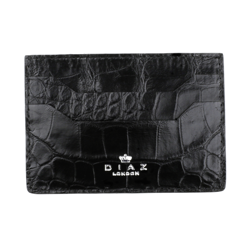 Black Genuine Crocodile Leather Cardholder