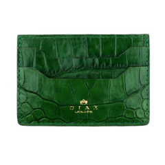 Emerald Green Genuine Crocodile Leather Cardholder
