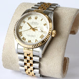 Rolex Date Just 18K Gold and Steel 16233