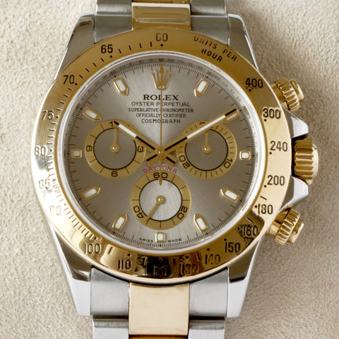 Rolex Daytona Chronograph Gold and Steel 116523