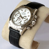 Rolex Daytona Chronograph White Gold & Crocodile 16519