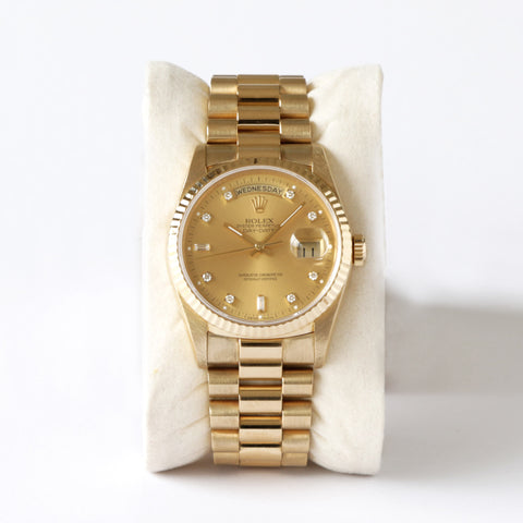 Rolex Day-Date 18K Yellow Gold Diamond Dial 18238