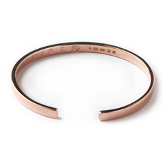Rose Gold Hand-Crafted Classic Bangle