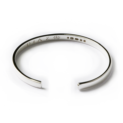 Silver Hand-Crafted Classic Bangle