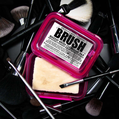 MAKEUP BRUSH BEER SOAP