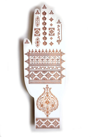 Henna Temporary Tattoo in Rose Gold