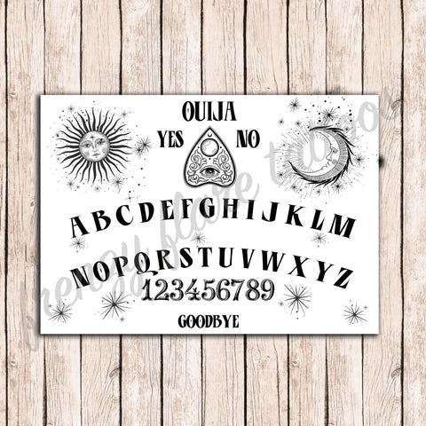 Ouija Board Temporary Tattoos. Esoteric Costume for Halloween Party. Unisex Style, for Adults or Kids