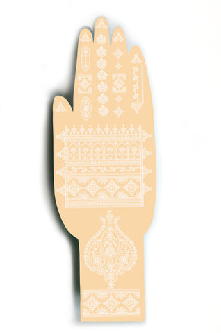 White Henna Temporary Tattoo. 2 sheets