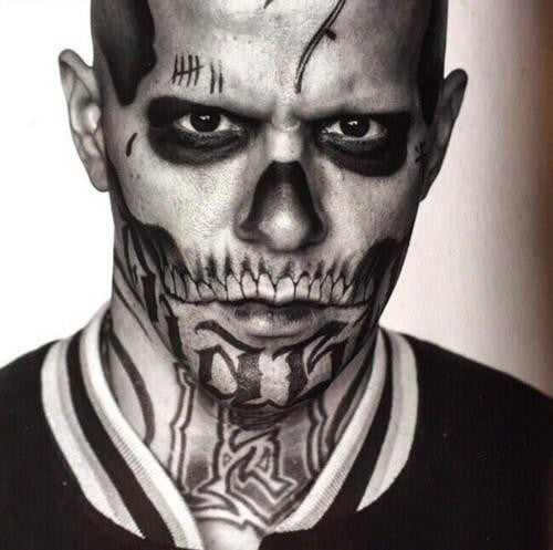 El Diablo Temporary Tattoos Suicide Squad. Complete Set of Face and Body Tattoos for Cosplay