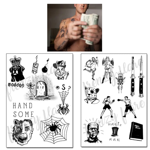 Place Beyond the Pines Temporary Tattoos for Cosplay