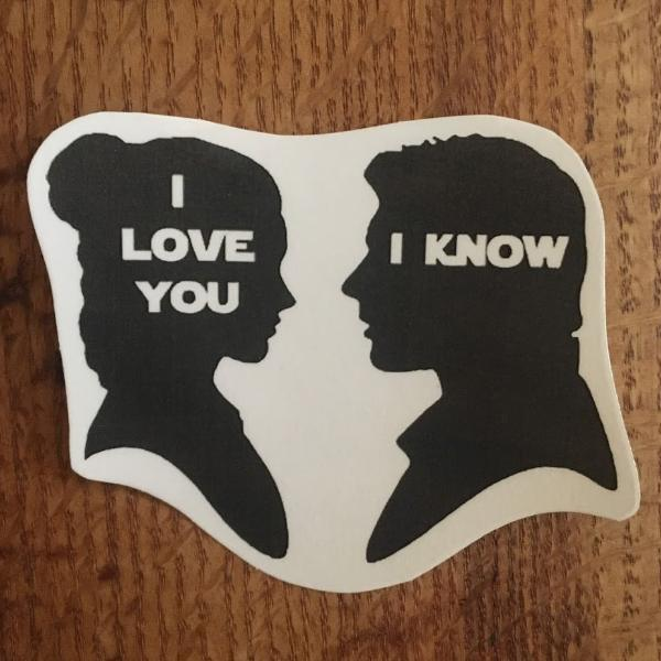 "Star Wars ""I love you I know"" Temporary Tattoo"