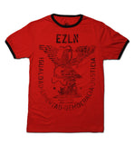 T SHIRT MEN RINGER EZLN